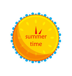 sun and water in the form of a clock icon vector image vector image