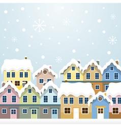 Winter houses vector