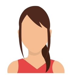 Young woman profile avatar isolated on white vector image