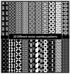 20 Different seamless patterns vector image