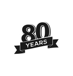 80 years anniversary logotype isolated vector