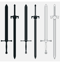 Ancient Swords Set vector image
