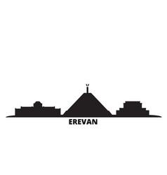 Armenia erevan city skyline isolated vector