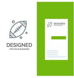 Ball football sport usa grey logo design and vector