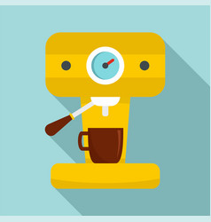 Bar coffee machine icon flat style vector