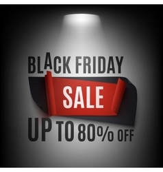 Black Friday Sale abstract banner illuminated vector