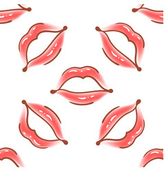 brush drawn various woman lips seamless vector image