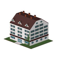 Building hotel tourism vector