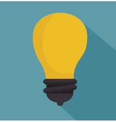 bulb icon design over blue background vector image