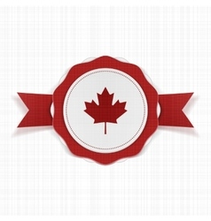 Canada patriotic Label with Ribbon vector image