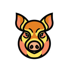 color image of swine or pig head vector image