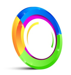 Colorful circle shape isolated on white background vector