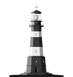 Detailed lighthouse - isolated on white vector
