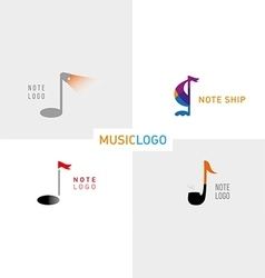 Development of a series of creative logos on a vector