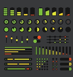 Different interface design elements vector
