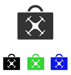 Drone toolbox flat icon vector