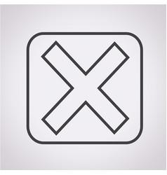 Error icon vector