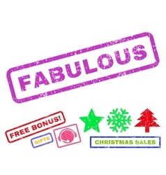 Fabulous Rubber Stamp vector