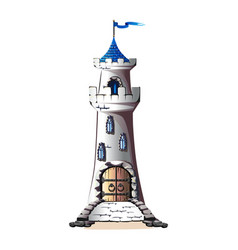 fairytale tower vector image