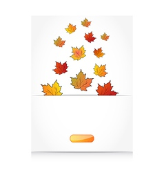 Fall maple leaves autumn background vector image