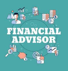 Financial advisor concept financial advisor vector