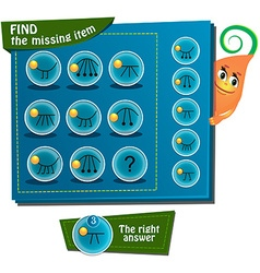 Find the missing item vector image