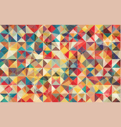 Flat retro color geometric triangle background vector