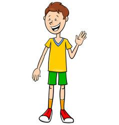 Funny teen boy character cartoon vector