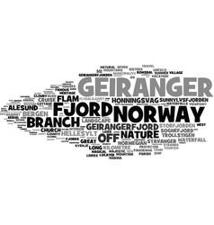 Geiranger word cloud concept vector