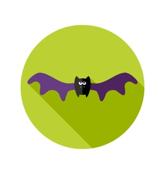 Halloween flat icon with big wings vector