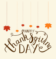 hand drawn thanksgiving lettering vector image