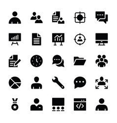Human resources glyphs icons 1 vector
