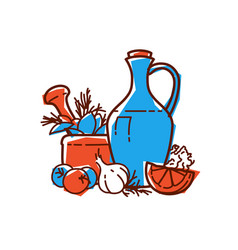 icon natural products still life food vector image