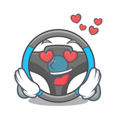 In love steering wheel in a mascot box vector