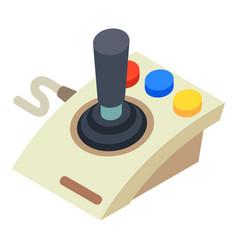 Joystick controller icon isometric style vector