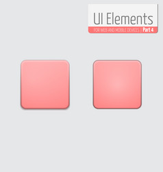 light ui elements part 4 square vector image