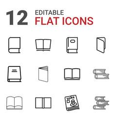 Literature icons vector