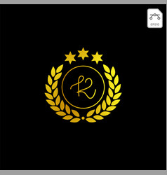 Luxury k initial logo or symbol business company vector