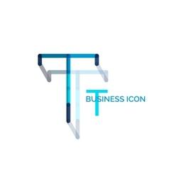 Minimal T font or letter logo design vector image
