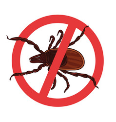 mite parasites tick silhouette vector image