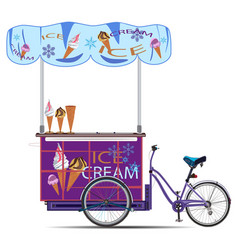 mobile ice cream cart flat vector image