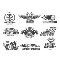 monochrome labels and badges of sport labels vector image