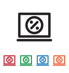 percent icon vector image