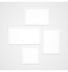 Photo Frames Set vector image