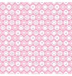 Pink circle seamless pattern vector
