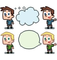 pixel kids vector image