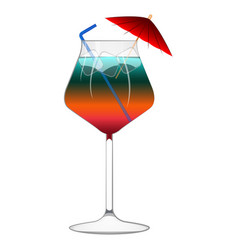 rainbow popular cocktail vector image