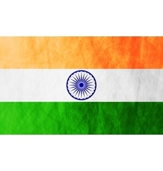 Republic of India grunge flag vector image