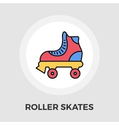 Roller skate flat icon vector image