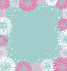 romantic frame with colorful flowers vector image